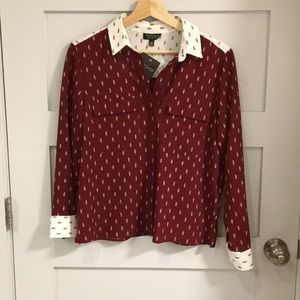 Topshop Button Down Shirt size US 4 Small